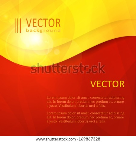 stock-vector-business-design-template-with-copy-space-in-an-arced-frame-in-shades-of-red-orange-yellow