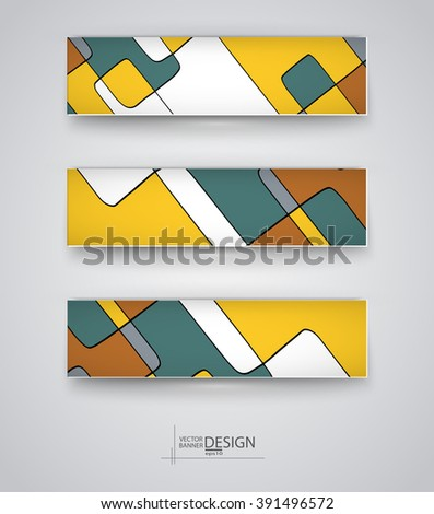 Business design templates. Set of Banners with Multicolored Backgrounds. Geometric Abstract Modern Vector Illustration. #391496572