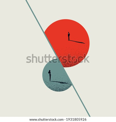 Business disagreement vector concept. Difference of opinions between genders. Minimal illustration art. Eps10 design. Foto stock ©