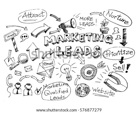business doodle sketch marketing leads