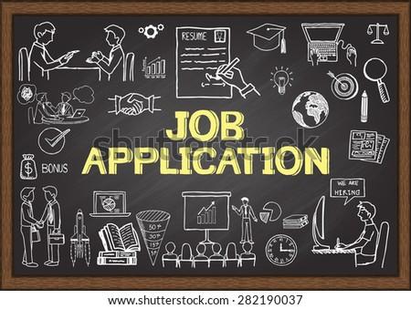 business doodles about job
