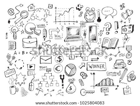 business doodles hand drawn