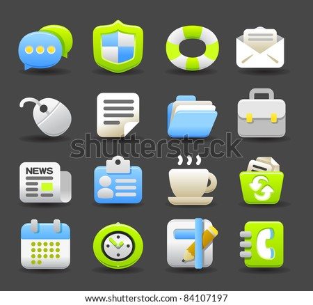 business,eco  icon set | Dark series