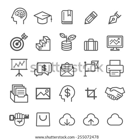 Shutterstock Business education icons. Vector illustration