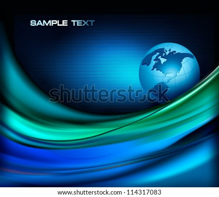 Business elegant abstract background with globe. Vector illustration.