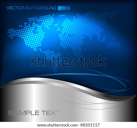 Business elegant abstract background with world map. Vector illustration