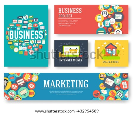 Marketing Template Of Flyear, Magazines, Book Cover, Banners