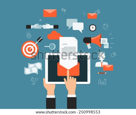 business email marketing content on mobile  background