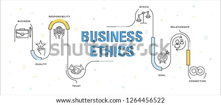 BUSINESS ETHICS INFOGRAPHIC CONCEPT Stock photo ©