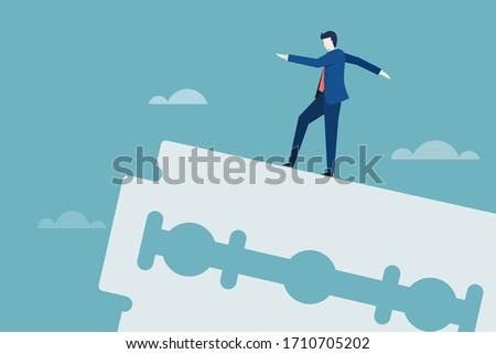business executive walks on the