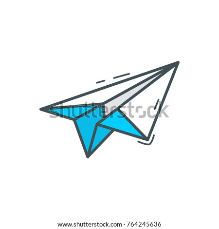 Business Finance Icon Paper Plane