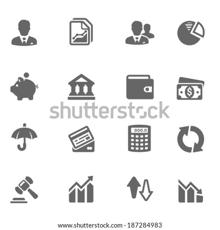 Business & Finance Icon Set