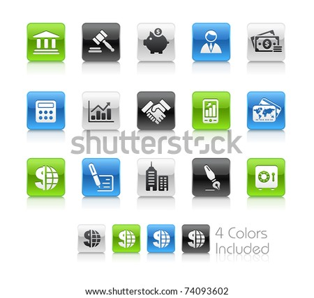 Business & Finance Icons // Clean Series -------It includes 4 color versions for each icon in different layers ---------