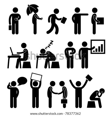 Business Finance Office Workplace People Man Working Icon Symbol Sign