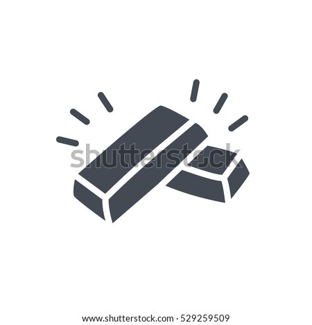 Business Finance Trading Vector Icon Glyph Solid gold golden silver bar silhouette