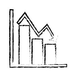 business financial bar graph chart diagram crisis problem
