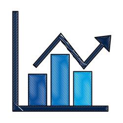business financial bar graph chart diagram growth profit