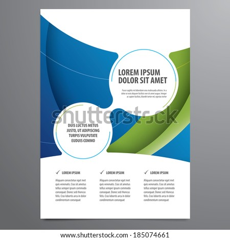 business flyer brochure vector template