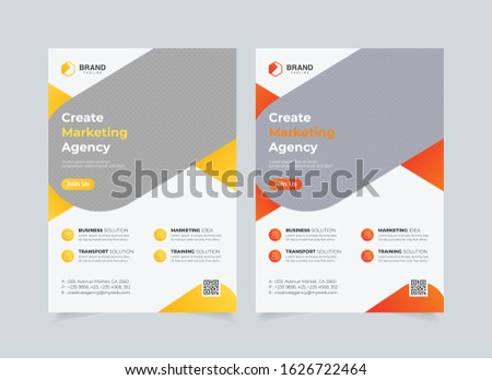 Business Flyer Corporate Flyer Template Brochure Report Color Yellow Orange Gradient