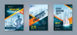 Business Flyer Poster Design Set. Layout Template, Abstract Red Geometric Triangle Background, invitation Card, presentation, leaflet, Booklet, annual Report, cover brochure, exhibition display,banner