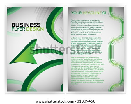 Business Flyer Template - EPS10 Vector Design
