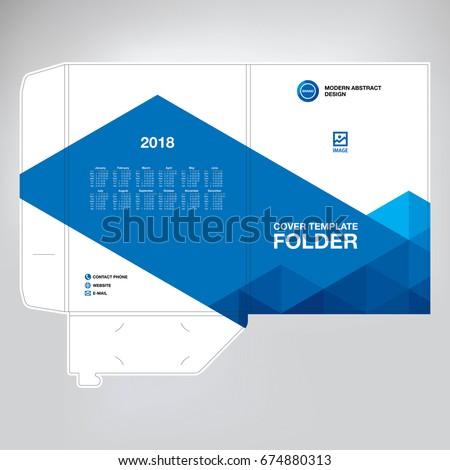Business folder for files, design.