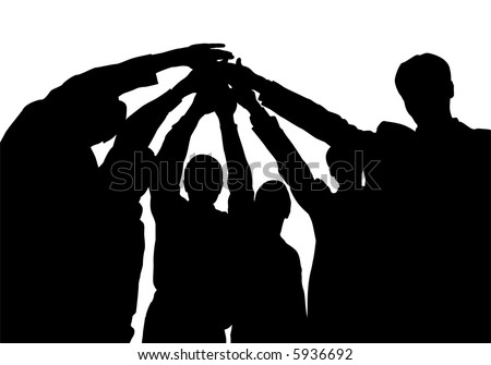business friends with hands vector