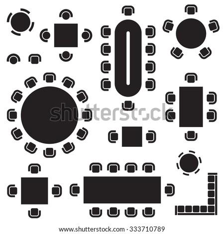 business furniture symbols used
