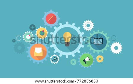 Business gears illustration. Business icons and things.