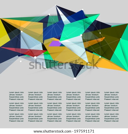 Business geometric shape abstract background.Modern design templates made of abstract geometric shapes. Option banner.Poster.