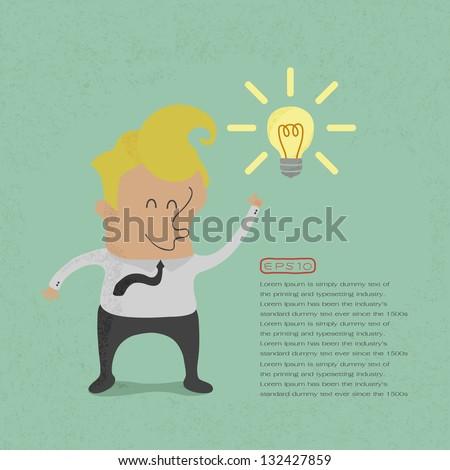 Business get idea , eps10 vector format - stock vector
