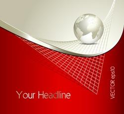 Business globe background - global network design