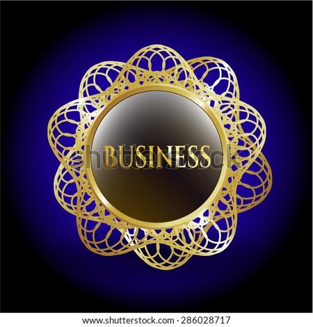Business gold shiny badge