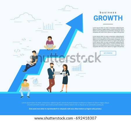 business graph growth concept...