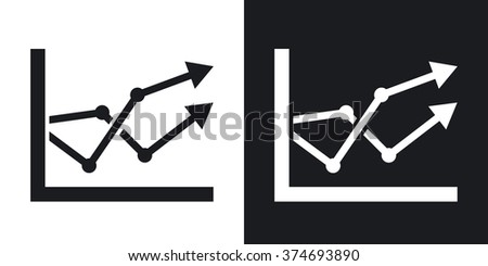 business graph icon two tone