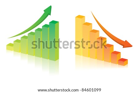 Business graph on white background