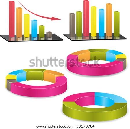 Business graph. Vector Illustration