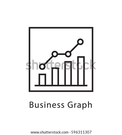 Business Graph Vector Line Icon