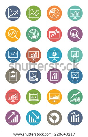 business graphs   charts icons