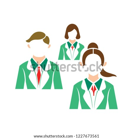 business group of people icon. vector team, teamwork concept. communication icon
