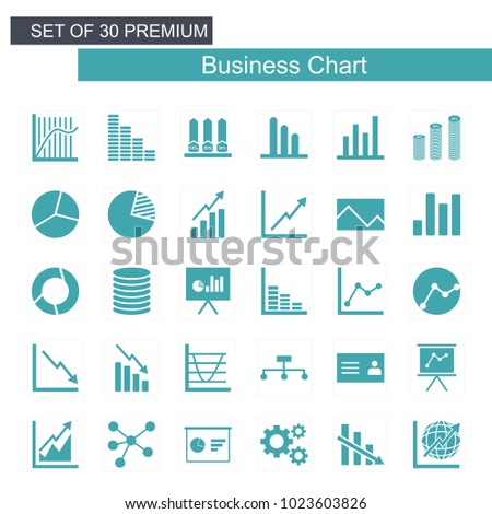 Business Growing chart icon set
