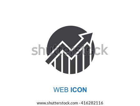 Business Growing Chart Presentation Icon . vector design