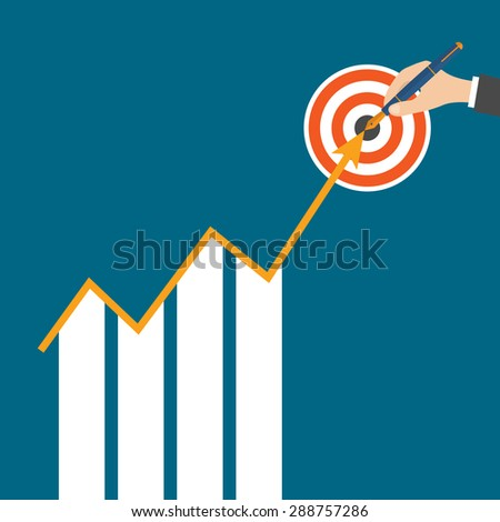 Business Growth Arrow Strategies Concept. vector