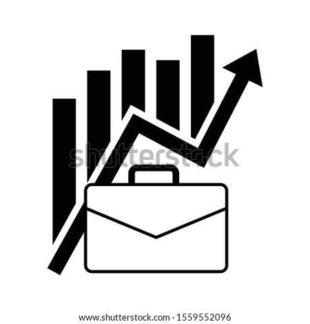 business growth concept, growth icon