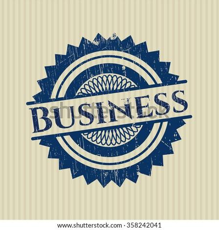 Business grunge stamp