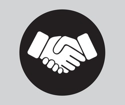 Business Hand Shake Icon, Vector Design