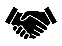 Business handshake / contract agreement flat vector icon for apps and websites