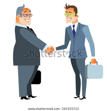 Business handshake deal. Finance and contract. Two men shake hands