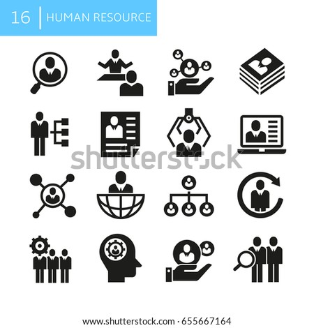 business human resource icons