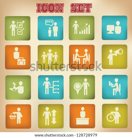Business,human resource,icons,vector